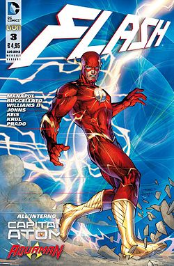 Barry Allen alias Flash, disegnato da Jim Lee