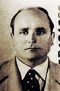 Klaus Barbie sul documento falso a nome Klaus Altmann