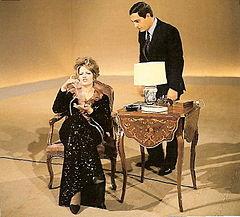 Nino Manfredi con Mina a Studio Uno nel 1965