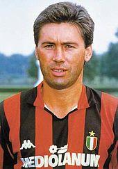 Ancelotti con la maglia del Milan nel 1988-1989