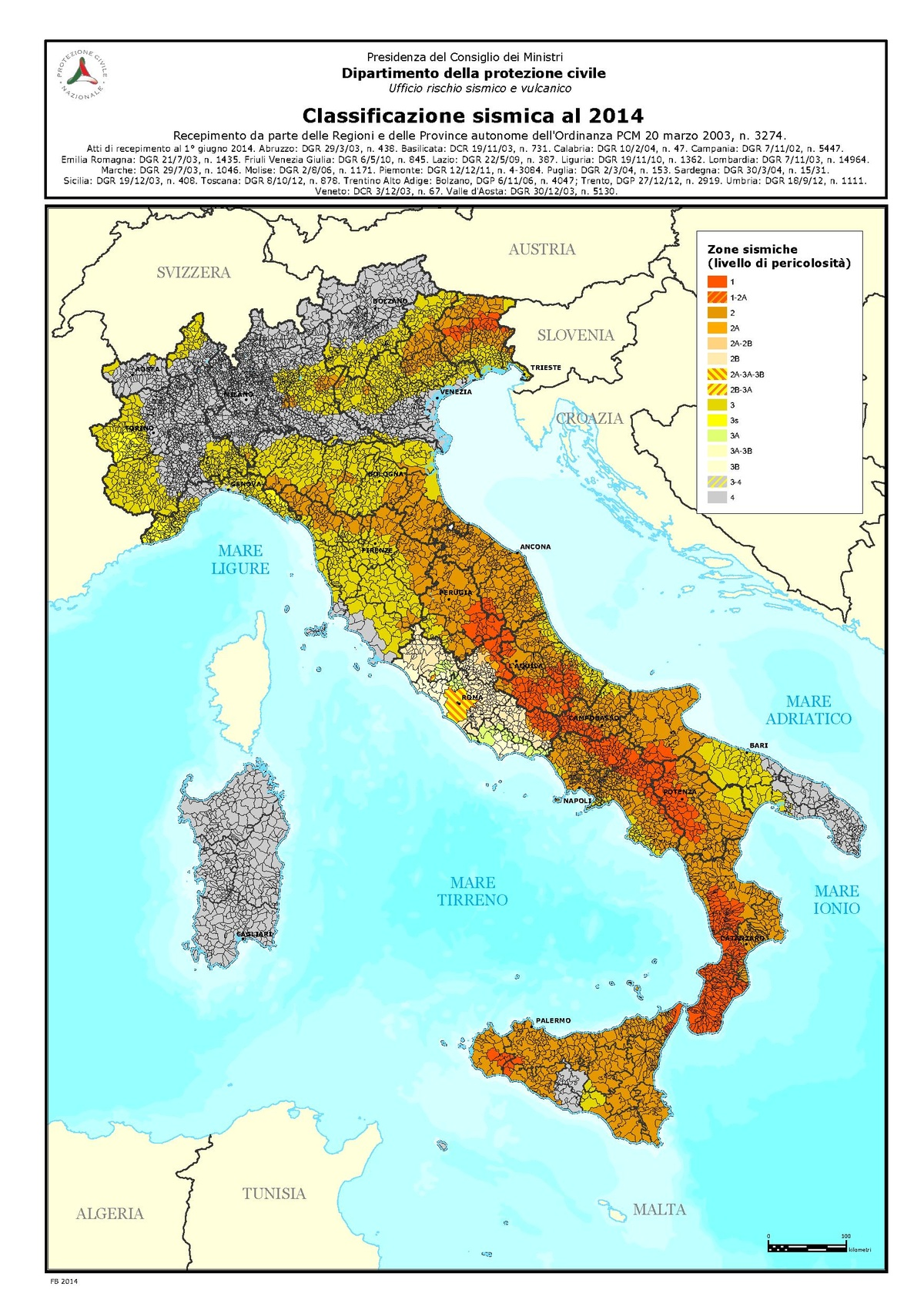 Cartina Sismica Italia Wikipedia.File Classificazione Sismica Italia 2014 Pdf Wikipedia