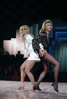 Heather Parisi e Lorella Cuccarini nel 1986