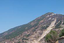 I segni della frana del 5 maggio 1998 sul monte Le Porche