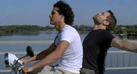 David e Matteo in una scena del film