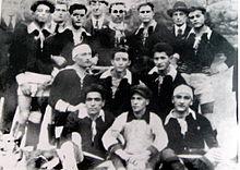 Una formazione dell'U.C. Astigiani del 1921.