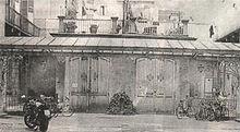 L'officina dei fratelli Enrico ed Eugenio Canfari, prima sede sociale.