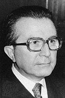 Il Presidente del Consiglio Giulio Andreotti.