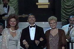 Gloria Christian con Flo Sandon's e Nicola Arigliano nel 1985