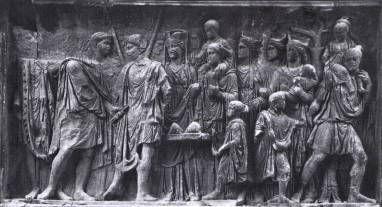 Istitutio Alimentaria - Pannello dell'arco di Benevento.