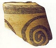 Frammento di vaso miceneo, trovato ad Ancona.
