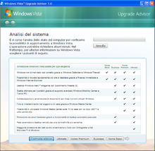 vista upgrade advisor: