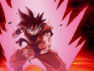 Goku mentre esegue il Kai?ken