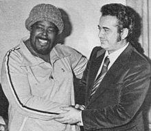 Barry White con Vittorio Salvetti, in Italia, alla fine degli anni '70