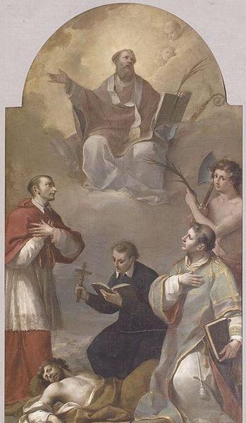 Angelo Gottarelli: Sant'Apollinare, San Carlo Borromeo, San Cosma, San Donato e San Terenzio (1791), katedralen i Imola