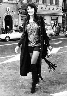 Nadia Cassini a Roma nel 1970