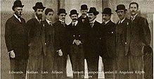 Parte dei soci fondatori del Milan in un'immagine del dicembre 1899