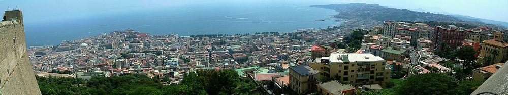 Il golfo di Napoli visto da Castel Sant'Elmo