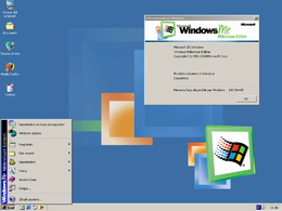 Il desktop di Windows Me