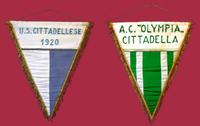 Gagliardetti della Cittadellese e dell'Olympia.