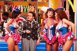 Boldi a metà degli anni 1980, nel programma comico Drive In, in compagnia delle cosiddette