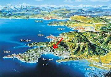 Portorose Slovenia Cartina Geografica.Portorose Wikiwand