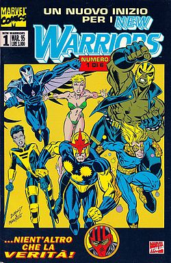 New Warriors, disegnato da Mark Bagley