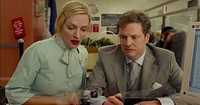 Uma Thurman e Colin Firth in una scena del film.