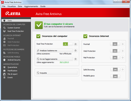 Avira Free Antivirus su Windows 7