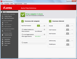 Screenshot di Avira Antivirus