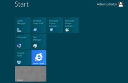 Schermata Start di Windows Server 2012