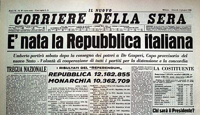 Nascita della repubblica italiana wikipedia for Repubblica italiana nascita