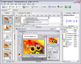 Screenshot di Adobe Captivate