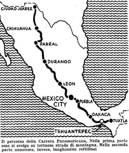 lancia d24 wikiwand Siata Roadster il percorso della carrera panamericana 1953