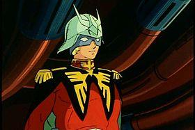 Char Aznable nelle prime puntate di Mobile Suit Gundam.