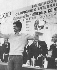 Baldovino Dassù vince l'edizione 1976 all'Is Molas Resort di Cagliari