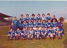 La rosa del Matera vincitrice del campionato di C1 1978-79