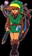 Link alla sua prima apparizione in The Legend of Zelda