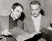 Georges Brassens (a destra) con Nanni Svampa