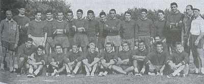 La rosa della Lazio 1958-59: Del Gratta è seduto, 4° da sinistra