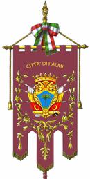 Gonfalone del comune di Palmi.