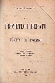 Il Prometeo liberato di Mario Rapisardi