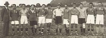 Una formazione della Lazio 1923-24.