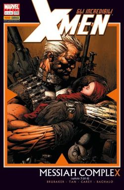 Cable e la messia mutante, disegnati da David Finch