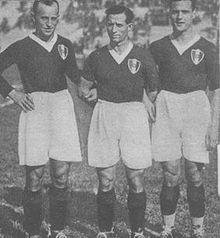 Il Trio delle meraviglie Baloncieri-Libonatti-Rossetti, protagonista del primo scudetto nel 1928.