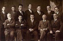Arturo Tanesini con alcuni artisti di Ortisei nellottobre 1937