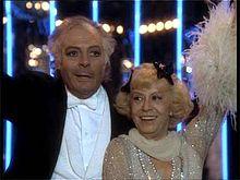 Con Marcello Mastroianni nel film Ginger e Fred