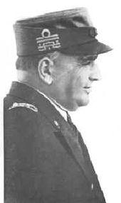 L'ammiraglio di squadra Carlo Bergamini, comandante delle forze navali da battaglia della Regia Marina.