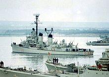 Il cacciatorpediniere dopo il trasferimento alla Marina Militare italiana