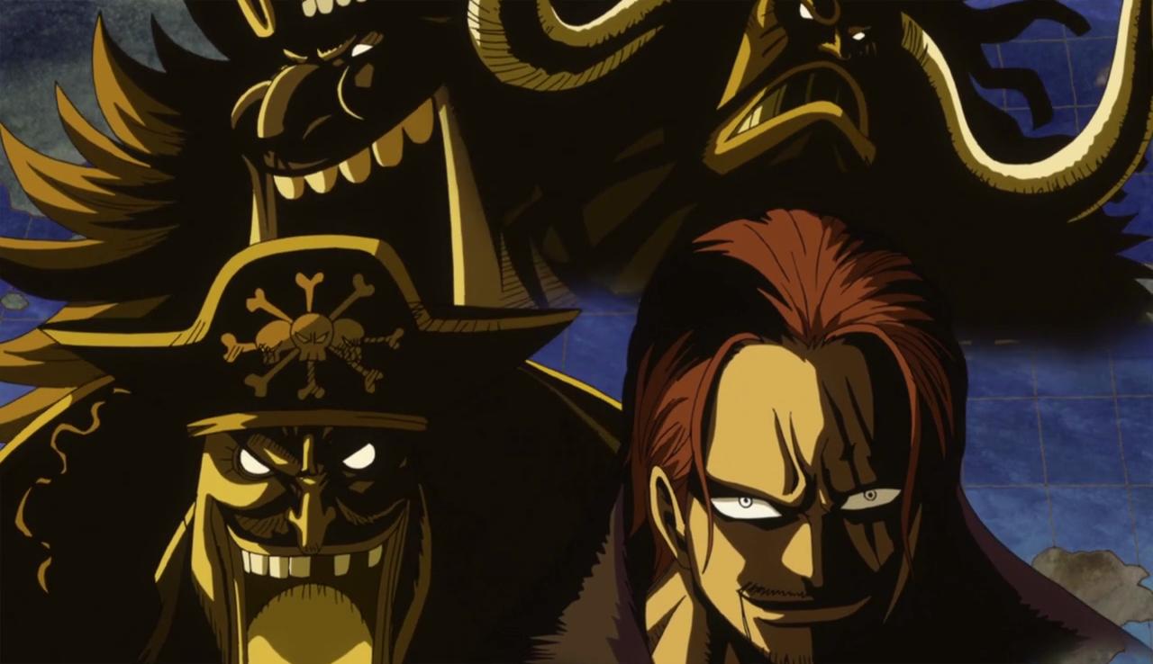 I 4 imperatori nella seconda parte della storia; da sinistra: Barbanera, Kaido, Big Mom e Shanks il rosso