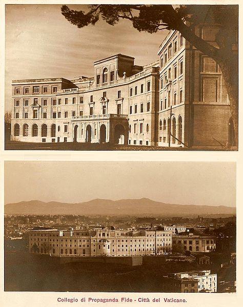 Progetto degli Architetti Carlo e Clemente Busiri Vici 1924.1933 - Pontificio Collegio Urbano De Propaganda Fide al Gianicolo Fondazione Paventi